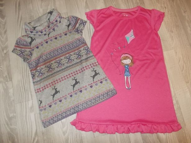 Tunika + koszulka nocna 104 / 3-4 latka zestaw (108)