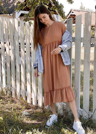 Платье, тёплый цвет