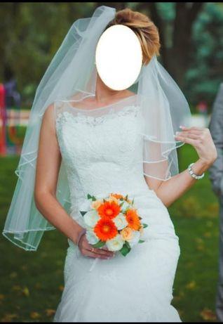 Свадебное платье элегантное на рост от 170 см