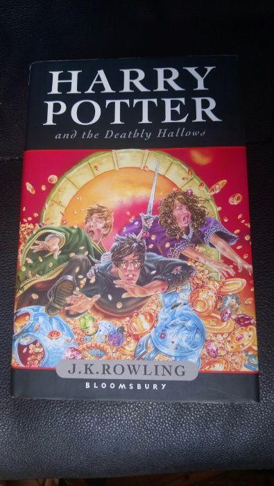 RARA 1ª Edição Harry Potter and the Deathly Hallows J.K. Rowling 2007 Marvila - imagem 1