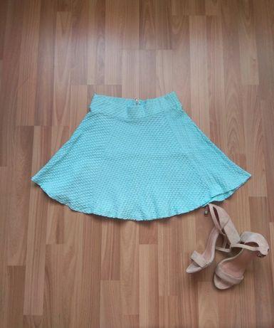 H&M dziewczęca letnia miętowa rozkloszowana spódnica r.S stan idealny
