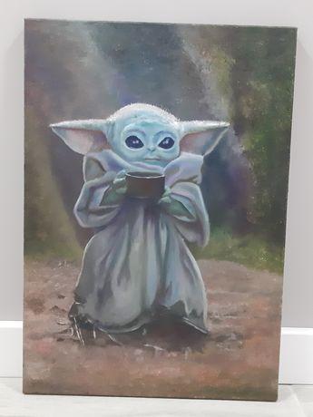 Картина маслом Малыш Йода