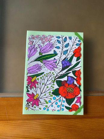 Caderno pautado A5 artesanal