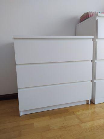 Cómoda Malm IKEA 3 gavetas branca NOVA
