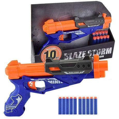 Pistola Blaze Storm Soft Bullet com 10 balas soft de esponja novas