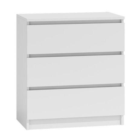 MALVINE 3M – komoda biała komoda z szufladami DOWÓZ GRATIS