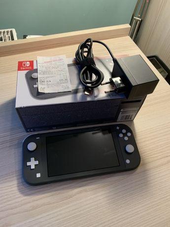 Konsola Nintendo Switch Lite Szara Cały Zestaw