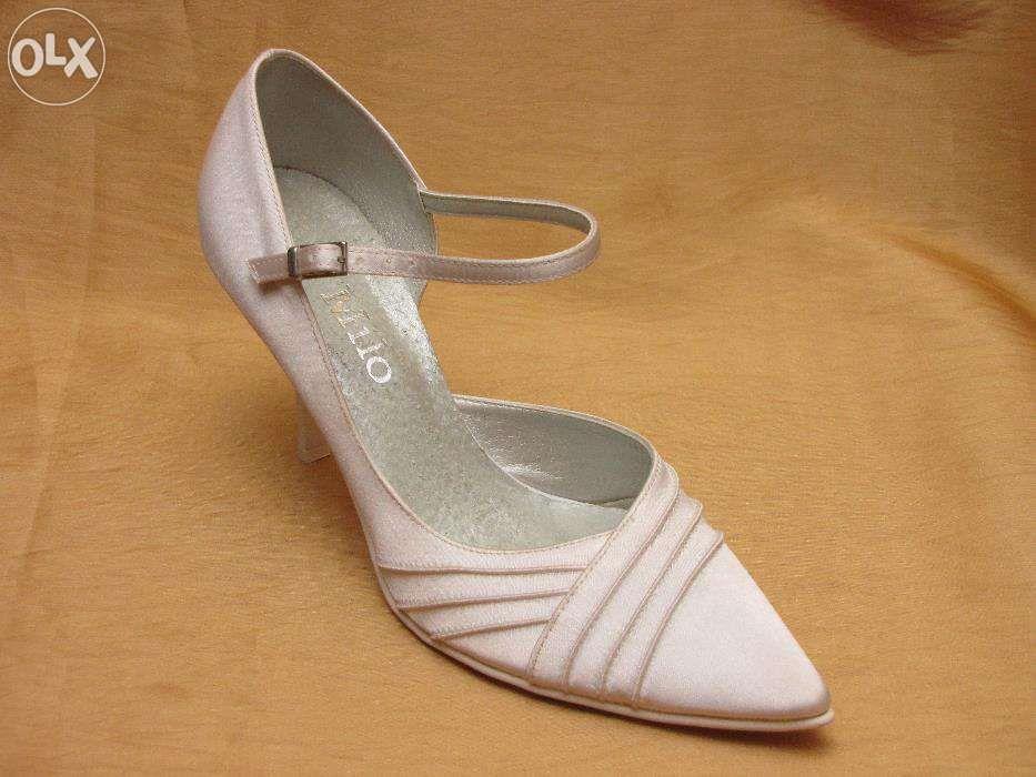 nowe buty ślubne białe satyna 37, 39, 40 Łódź - image 1