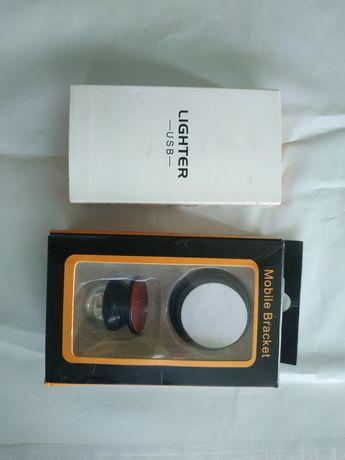 Usb зажигалка и держатель для телефона
