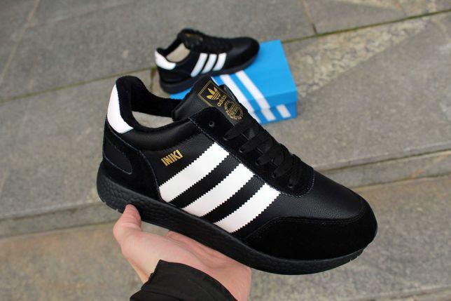 (635) ЗИМА Кроссовки Adidas Iniki (41-46) - зимние, на меху, адидас