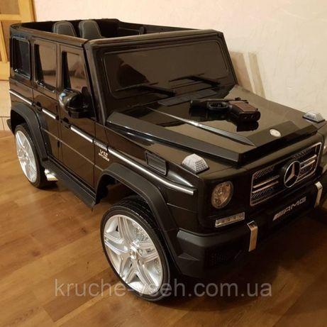 Джип Mercedes G65 VIP M 3567, детский электромобиль, EVA, кожа, mp3