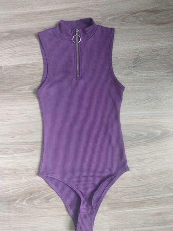 Body fioletowe krótki rękaw Terranova