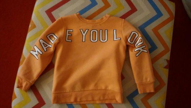 Bluza w kolorze moreli:)h&m 98/104 dostawa za 1zl.