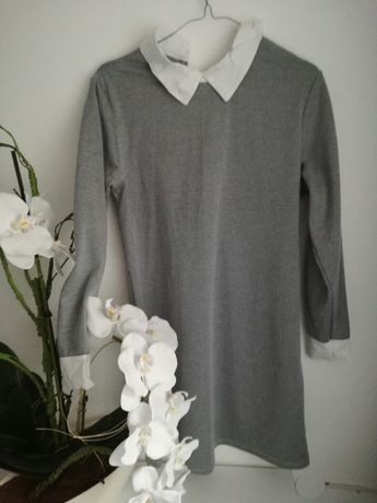 Elegancka sukienka w pepitke