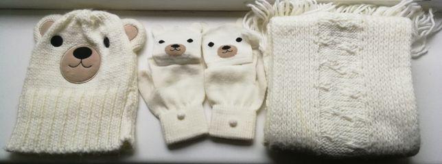 Czapka + szalik + rękawiczki - Komplet