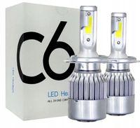 Żarówki x 2 LED H4 - 2x36W 7600 lm