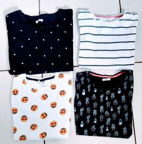 Zestaw bluzeczki dla dziewczynki 158/164