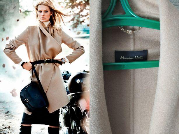 Пальто Massimo Dutti шерсть кашемир бежевый тренч пальтишко куртка