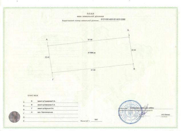 Продам земельный участок (гос-акт, кадастровый номер).