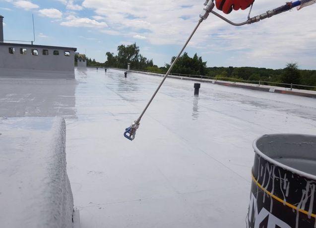 Remonty dachów Izolacje Natryskowe PUR Membrany Hydroizolacja Pianą