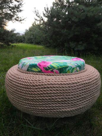 Siedzisko ogrodowe na bazie opony