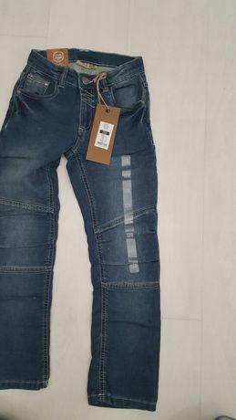 Jeansy spodnie 128 nowe Cool Club