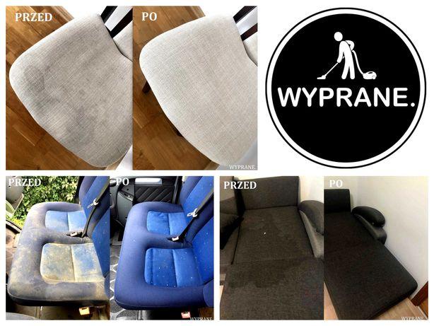 Pranie czyszczenie tapicerki samochodowej meblowej kanap narożników