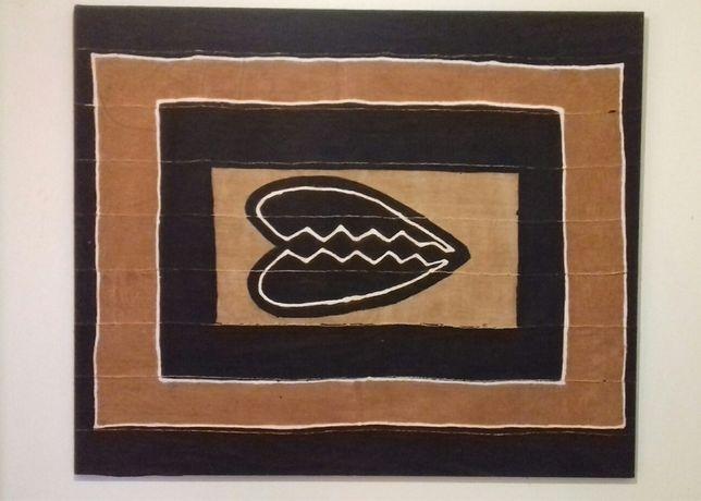 Decoração - Quadro | Arte africana | Pintura sobre tecido