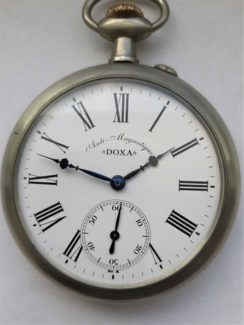 Kolejowy zegarek m. DOXA - 67 mm z 1905 -1910 r.