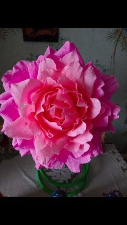 Продам квіти з гофрованої бумаги ! Декор до свята.