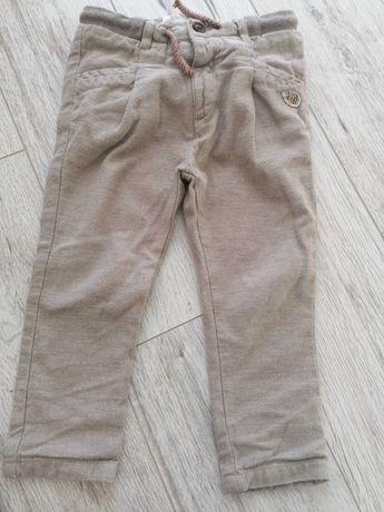Spodnie eleganckie Zara 98 beżowe