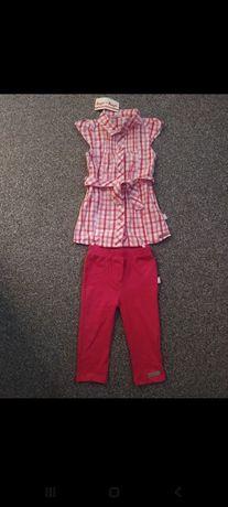 Tunika koszula dla dziewczynki plus getry