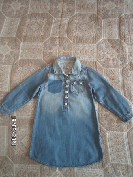 Джинсовое платье Next 4-6 лет В Идеале