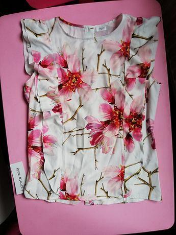 Bluzka z falbanką w storczyki Nowa z myślą Strefa mody