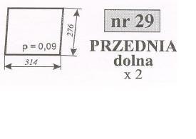 szyba przednia dolna Ursus 1604 , 1201 , C-385 stary typ Kunów ACX170