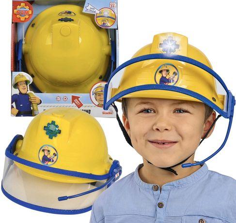 NOWY Kask Strażak Sam Fireman Hełm Mikrofon Dźwięk Światło - SKLEP!!!