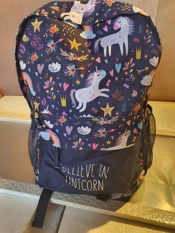 Plecak dziewczęcy Kayet dwukomorowy nowy.