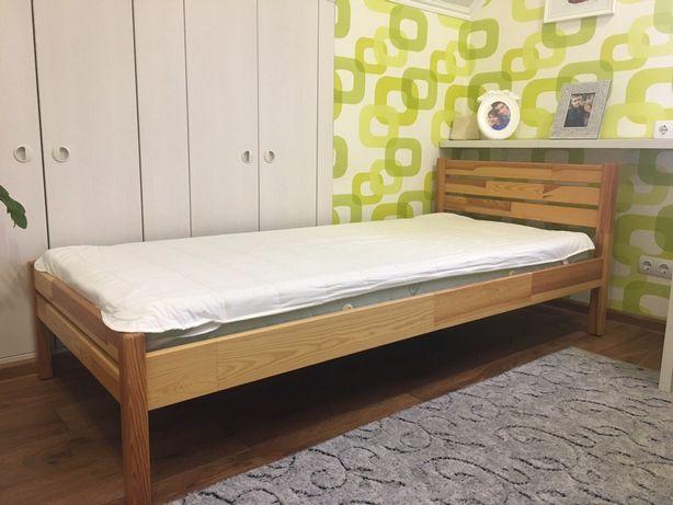 Кровать сосна с матрасом