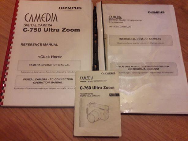 olympus camedia C760 ,C750 instrukcja obsługi