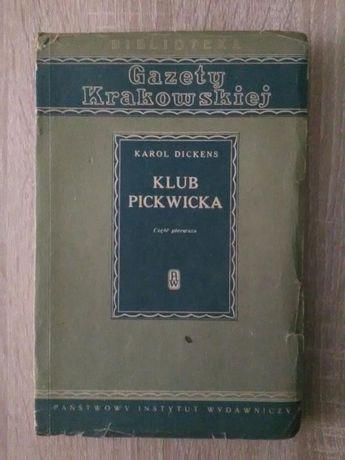 "Książka Karola Dickensa -"" Klub Pickwicka """