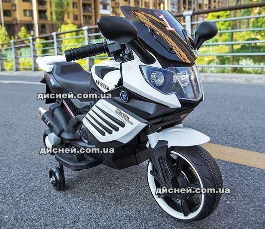 Детский мотоцикл BMW 3582 белый, электромобиль, Дитячий електромобiль
