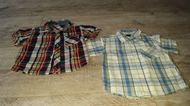 Koszule z krótkim rękawem rozmiar 86