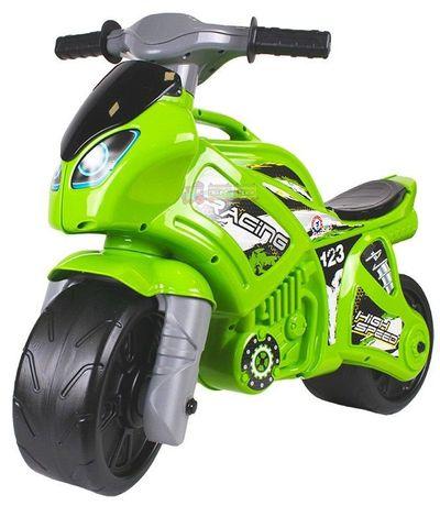Мотоцикл беговел Толокар каталка для детей Байк зелёный Технок