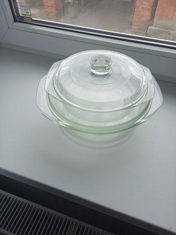Комплект скляних каструль