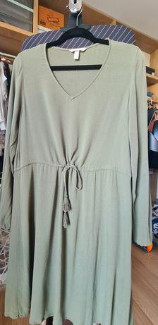 sukienka KHAKI H&M 38