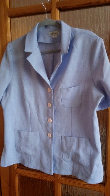 Żakiet marynarka koszula z krótkim rękawem bluzka