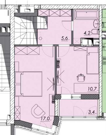 2х уровневая 3ком.кв. 85м2 - 66 000y.e/Близость центра/Рассрочка 0%/