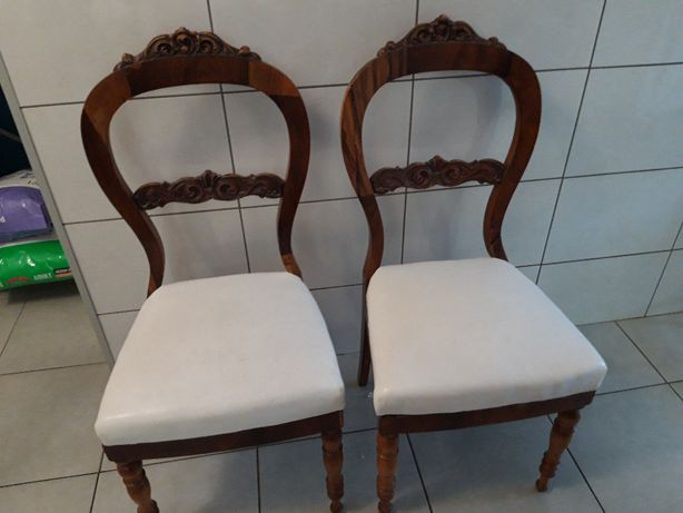 antyczne zabytkowe krzesła biedermeier - antyk