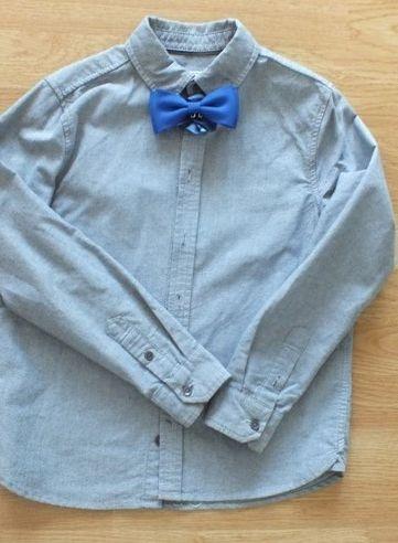 niebieska koszula długi rękaw 134