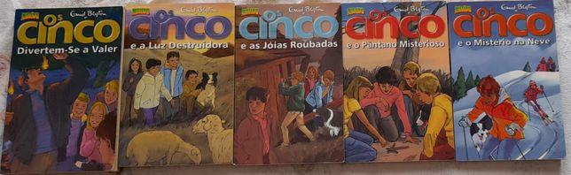 """Livros da coleção """"Os Cinco"""""""